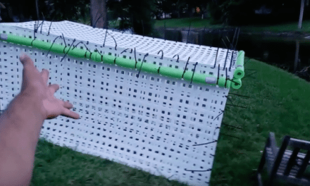 Guy Builds Massive Fish Cage to Keep His Pets Safe From Irma