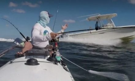 Boat Comes Dangerously Close to Offshore Kayaker