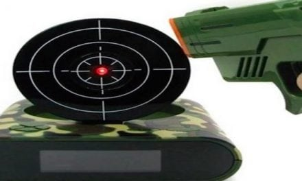 For the Gun Owner Who Has Everything: The Pistol Alarm Clock