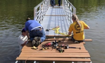USA, Union Volunteers Renovate Wolftever Creek Boat Ramp