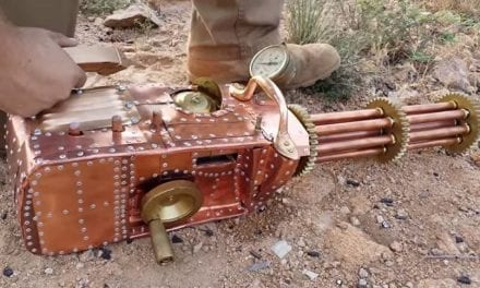Somebody Made a .22 Steampunk Gatling Gun Out of Spare Parts