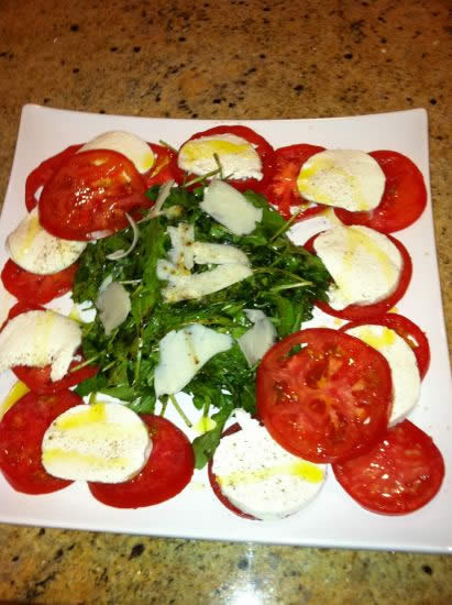 Summer Tomatoes and Fresh Mozzarella Salad