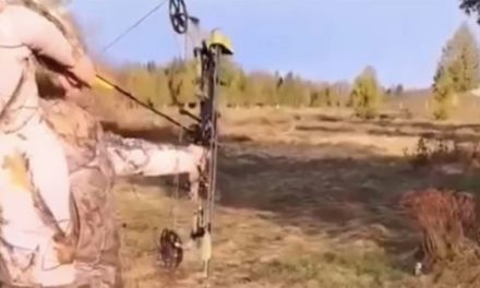 Near Miss: Girl Shoots Arrow at a Beer on the Ground, and It Ricochets Right Past Her Head