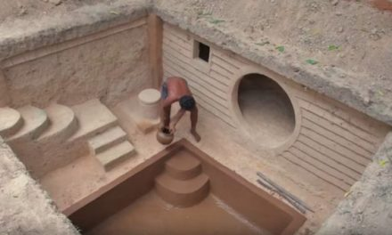 Watch This Guy Create an Amazing Underground Home with a Swimming Pool
