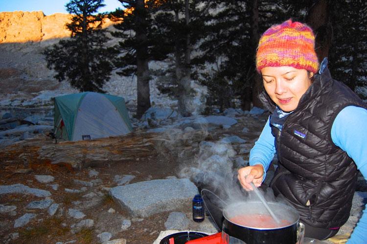 Making salsa soup