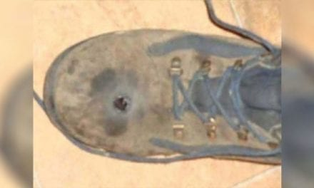 Man Thought Steel-Toed Boots Would Stop a .45-Caliber Bullet