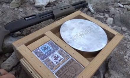Demolition Ranch Pits Custom Shotgun Shells Against a Solid Steel Disc