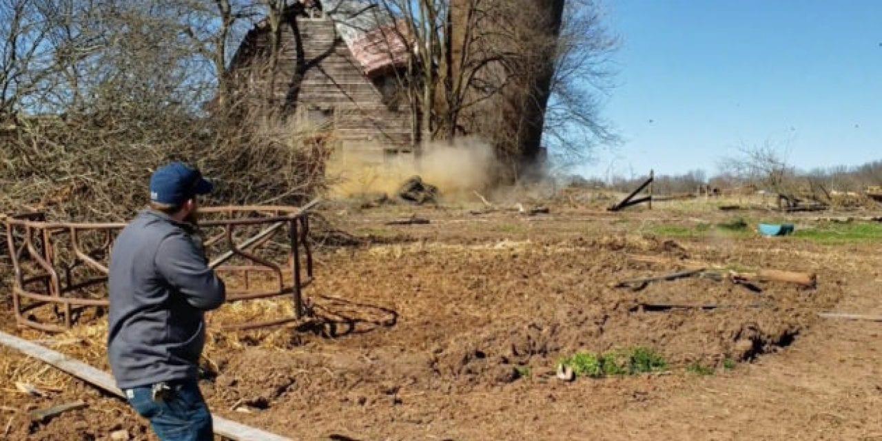 Rednecks Use Tannerite to Demolish an Old Farm Silo