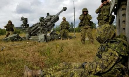 Sleeping Canadian Soldier Gets Rude Wake-Up from Artillery Crew