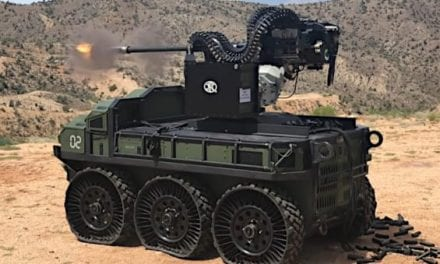 Behold the Power of the Unmanned HDT Hunter Wolf and Its 30mm Cannon