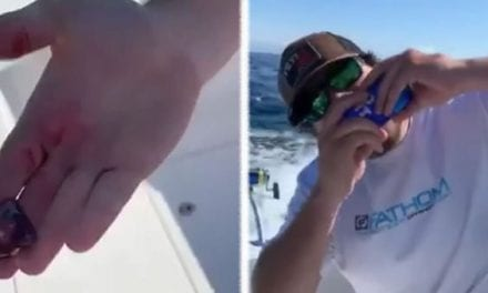 Saltwater Angler Downs a Tuna Heart With a Beer Shotgun