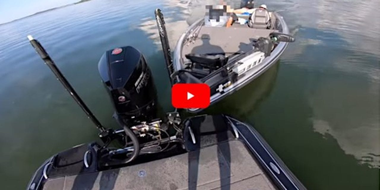 Boater Distracted By Cell Phone Idles Straight Into Another Boat Full of Fishermen