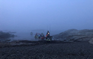 Zero dark-thirty with zero visibility and in goes the crew