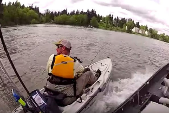 Kayak Fishermen Learns Why It's Important to Be Alert on the Water